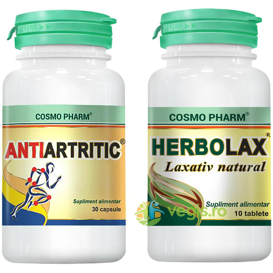 Antiartritic 30cps + Herbolax 10cps vegis.ro