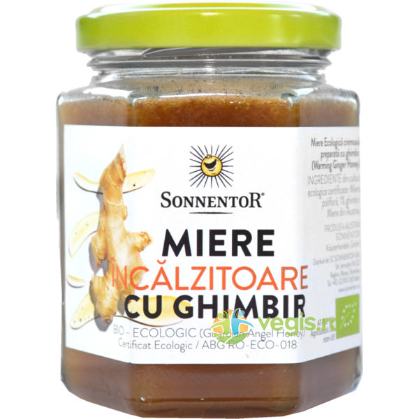 Miere Ghimbir Incalzitor Ecologica/Bio 230g SONNENTOR