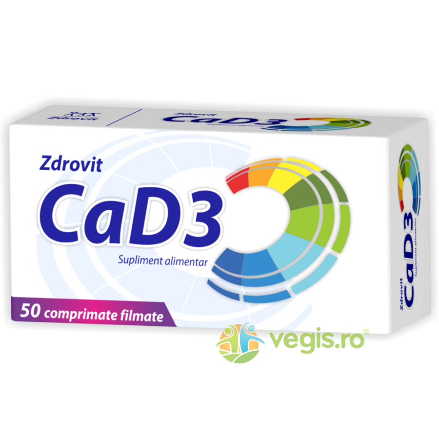 Calciu + Vitamina D3 50cpr