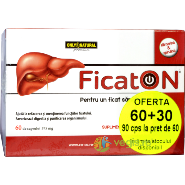 FicatON 575mg 60cps + 30cps ONLY NATURAL