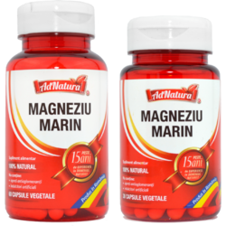 Magneziu Marin 60cps + 30cps - Pachet Promo ADNATURA