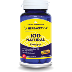 Iod Natural 500mcg 30cps HERBAGETICA