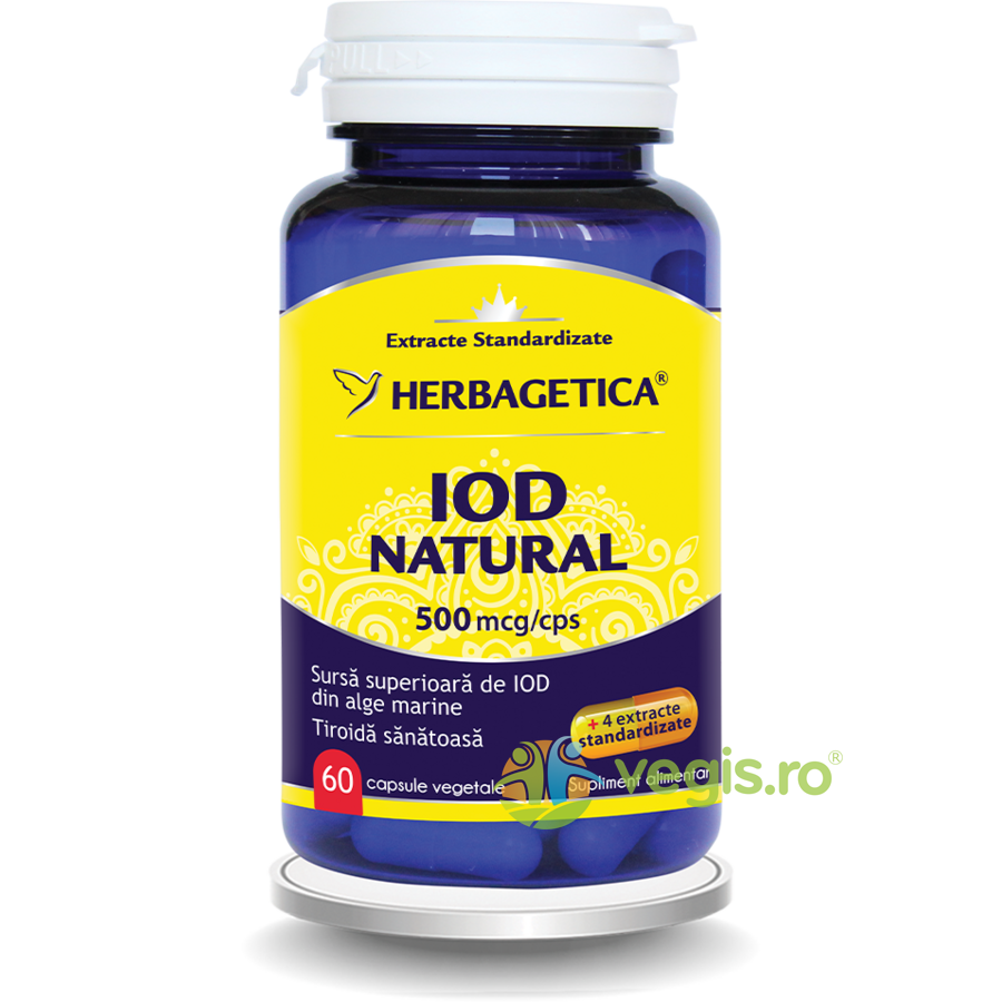 HERBAGETICA Iod Natural 500mcg 60cps