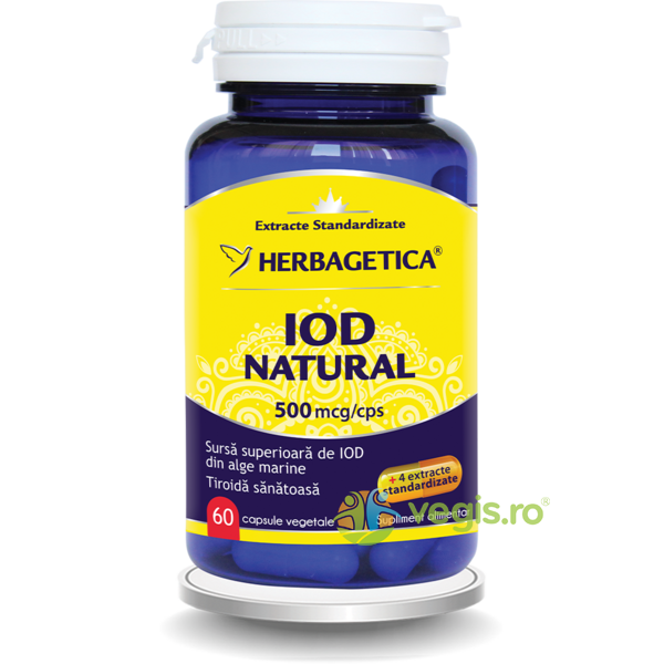 Iod Natural 500mcg 60cps HERBAGETICA