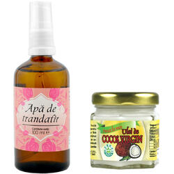 Apa De Trandafiri 100ml + Ulei De Cocos Virgin 35ml HERBAVIT