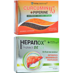 Curcumin + Piperine 95% 30cps + Hepanox Protect Detox 30cps COSMOPHARM