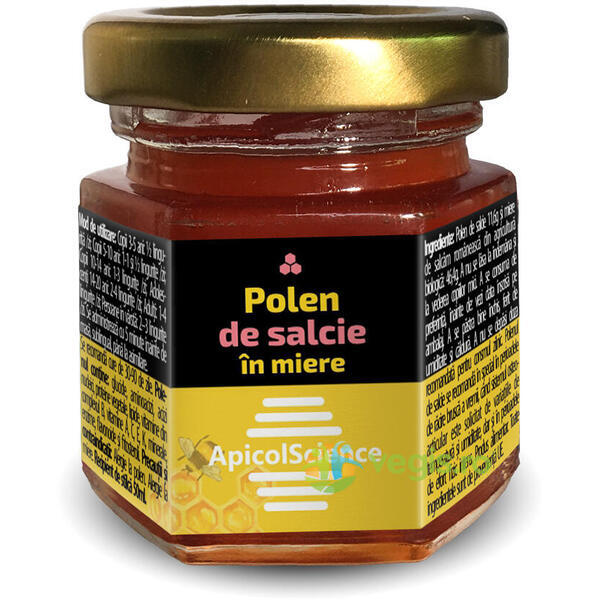 Polen de Salcie in Miere 50ml APICOLSCIENCE