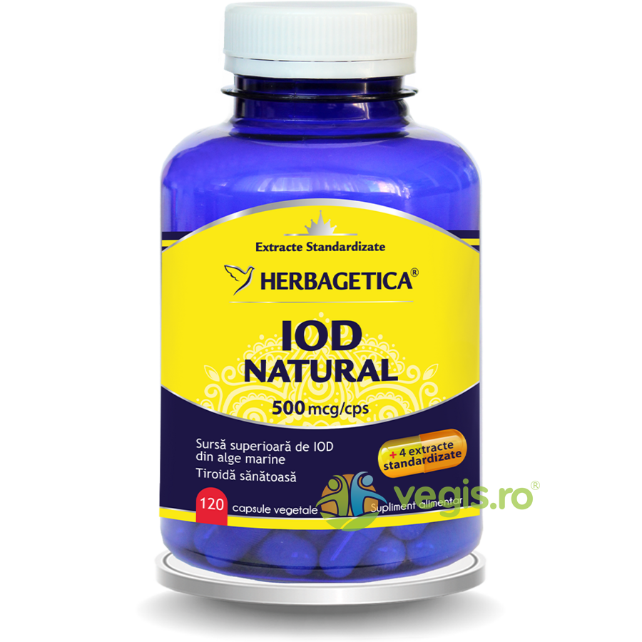 HERBAGETICA Iod Natural 500mcg 120cps