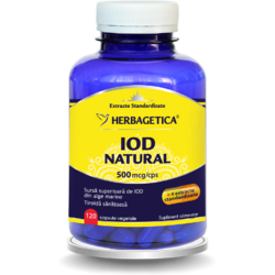 Iod Natural 500mcg 120cps HERBAGETICA