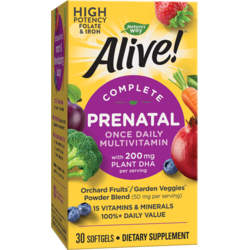 Alive! Prenatal Multi-Vitamin 30 caps moi NATURE'S  WAY