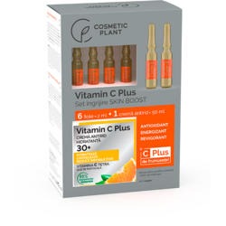 Set Vitamin C Plus (Crema Antirid 30+ Hidratanta 50ml + Fiole cu Vitamina C Tetra 6*2ml) COSMETIC PLANT