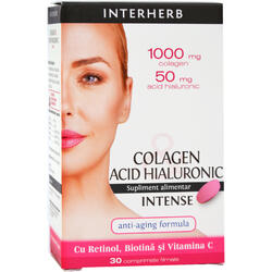Colagen si Acid Hialuronic Intense 30cpr INTERHERB