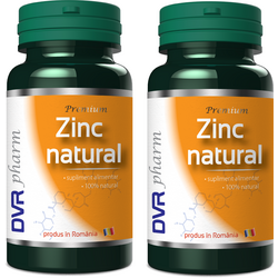 Zinc Natural Pachet 60cps+60cps DVR PHARM
