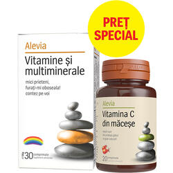 Vitamine Si Multiminerale 30cpr + Vitamina C din Macese 20cpr ALEVIA