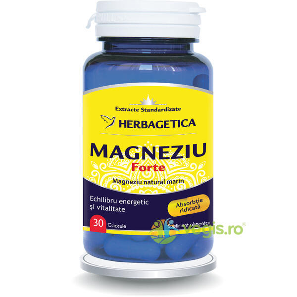 Magneziu Forte 30cps HERBAGETICA
