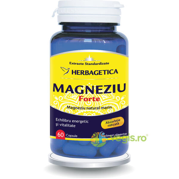 Magneziu Forte 60cps HERBAGETICA