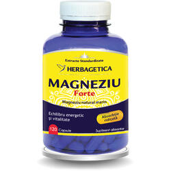 Magneziu Forte 120cps HERBAGETICA