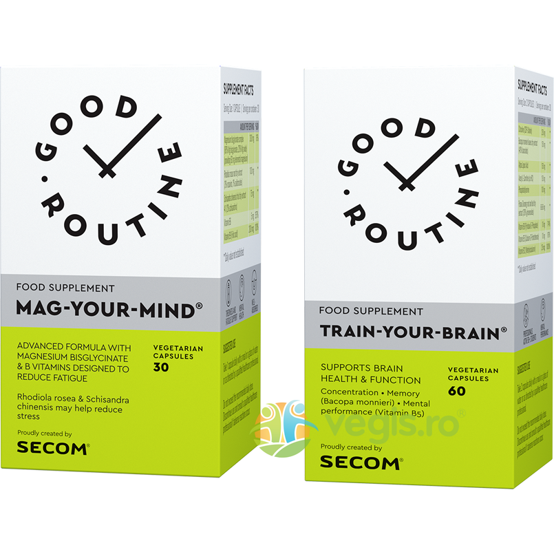 GOOD ROUTINE Mag Your Mind 30cps veg. + Train Your Brain 60cps veg.