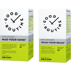 Mag Your Mind 30cps veg. + Train Your Brain 60cps veg. GOOD ROUTINE
