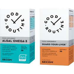 Algal Omega-3 30cps moi + Guard Your Liver 30cps moi GOOD ROUTINE