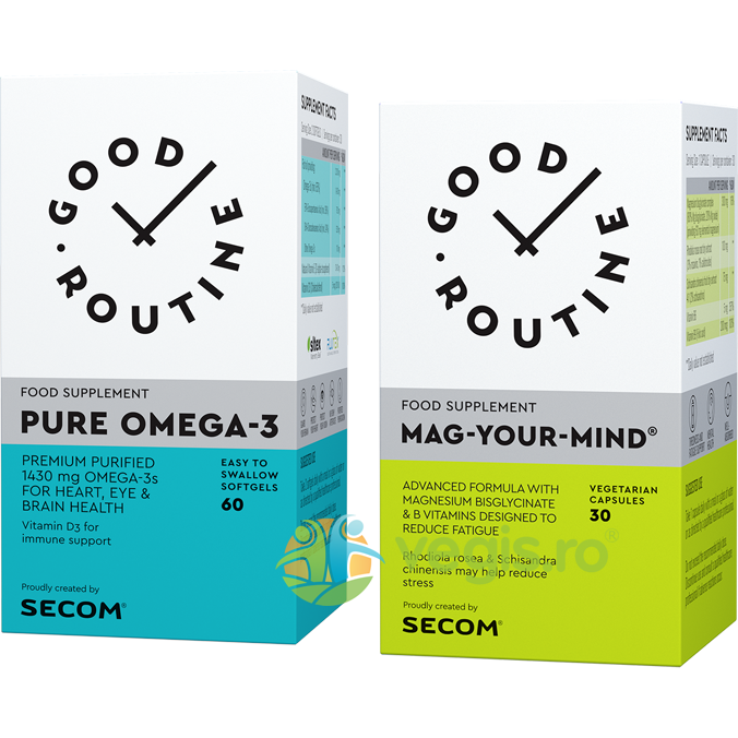 GOOD ROUTINE Pure Omega-3 60cps moi + Mag Your Mind 30cps vegetale