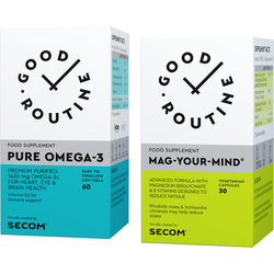 Pure Omega-3 60cps moi + Mag Your Mind 30cps vegetale GOOD ROUTINE