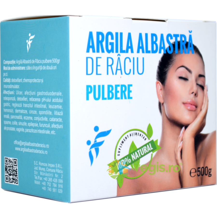 Argila Albastra de Raciu Argila Albastra De Raciu Pulbere 500g