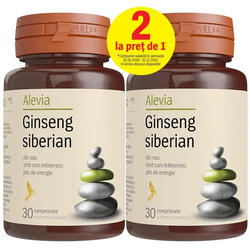 Ginseng Siberian 30cpr  + 30cpr ALEVIA