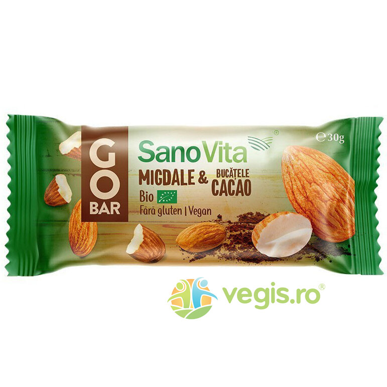 Baton Go Bar cu Cacao si Migdale Ecologic/Bio 30g imagine