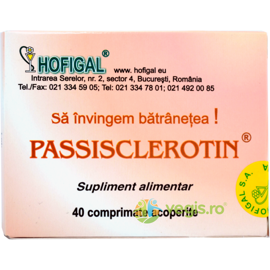 HOFIGAL Passisclerotin 40cpr