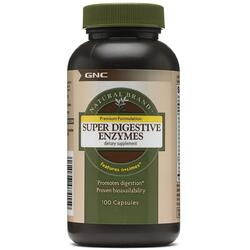 Enzime Digestive (Super Digestive Enzymes) Natural Brand 100cps GNC