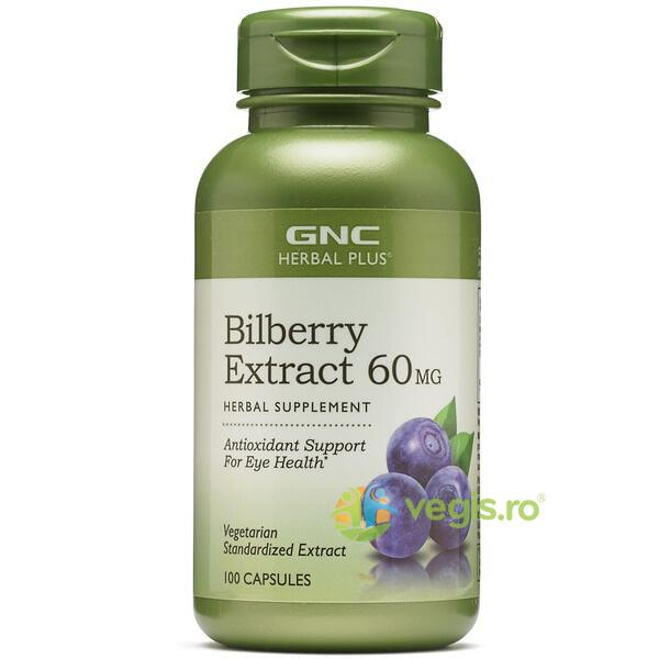 Bilberry Extract 60mg (Extract Standardizat din Afine) Herbal Plus 100cps GNC
