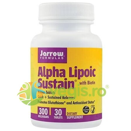 JARROW FORMULAS Alpha Lipoic Sustain 300mg 30cpr