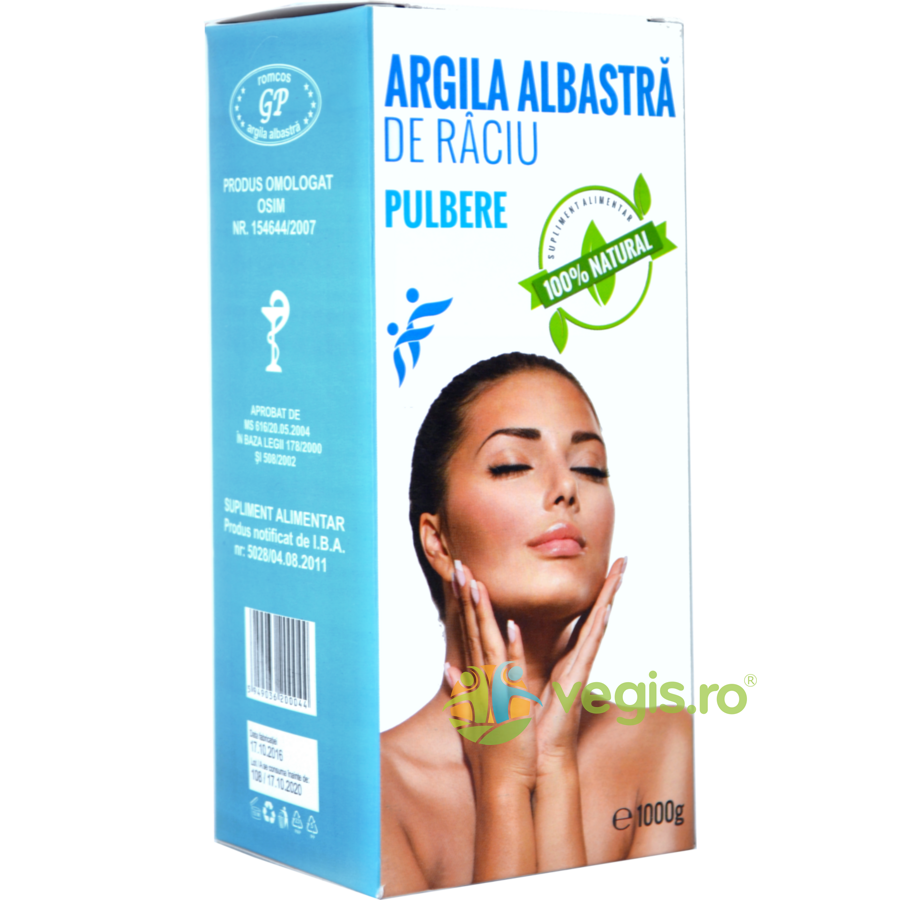 Argila Albastra de Raciu Argila Albastra De Raciu Pulbere 1kg