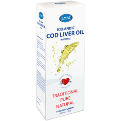 Ulei Din Ficat De Cod Lysi Natural 240ml