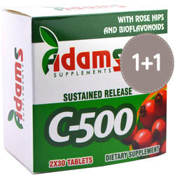 Vitamina C 500mg Macese 30cps 1+1 ADAMS VISION