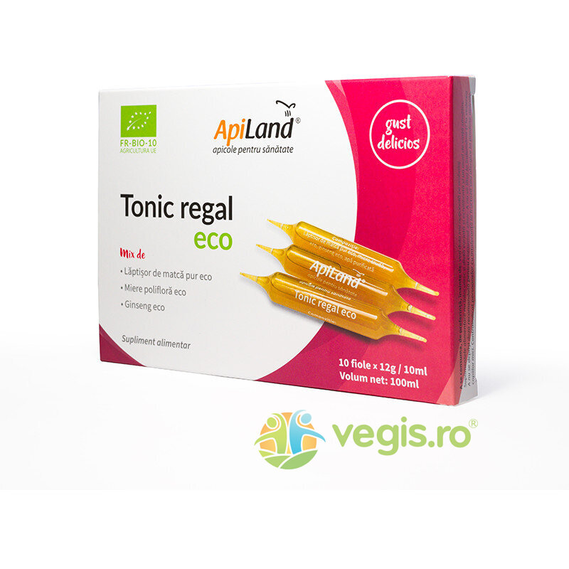 Tonic Regal cu Laptisor de Matca Pur, Miere si Ginseng Ecologic/Bio 20 fiole imagine produs 2021