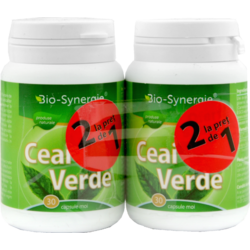 Extract Ceai Verde 30cps moi Pachet 1+1 GRATUIT BIO-SYNERGIE ACTIV