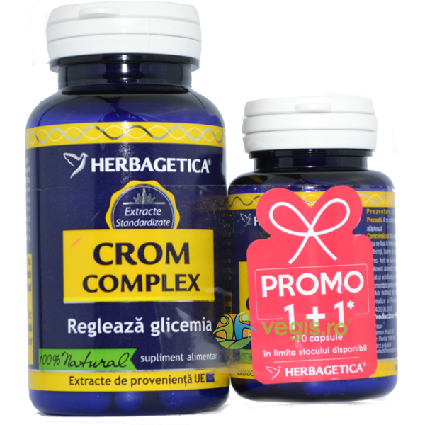 Crom Complex 60cps+10cps Pachet 1+1 Promo HERBAGETICA