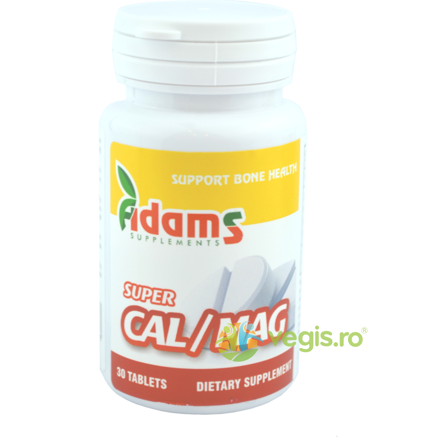 ADAMS VISION Super Calciu (1000mg) Magneziu (500mg) 30tb