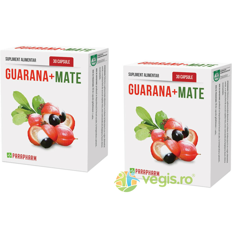 QUANTUM PHARM Guarana + Mate 30cps Pachet 1+1