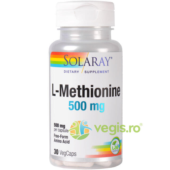SOLARAY L-Methionine 500mg 30cps (L-Metionina)