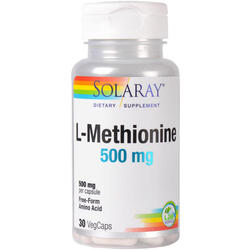 L-Methionine 500mg 30cps (L-Metionina) SOLARAY