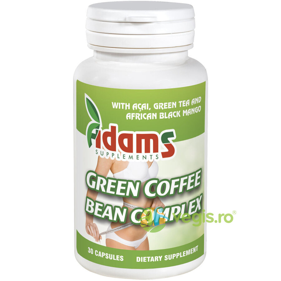 ADAMS VISION Cafea Verde (Green Coffee Bean Complex) 30cps