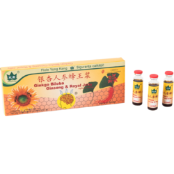 Ginkgo Biloba + Ginseng + Royal Jelly  1000+200+300mg 10fiole*10ml