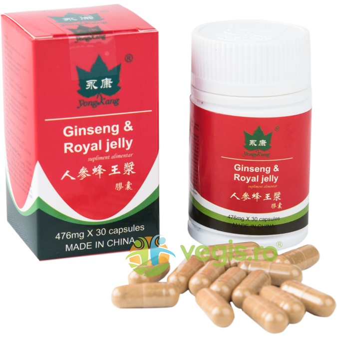 Ginseng + Royal Jelly 476mg 30cps thumbnail