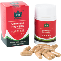 Ginseng + Royal Jelly 476mg 30cps YONG KANG