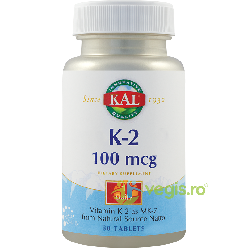 Vitamina K-2 100mcg 30tb imagine