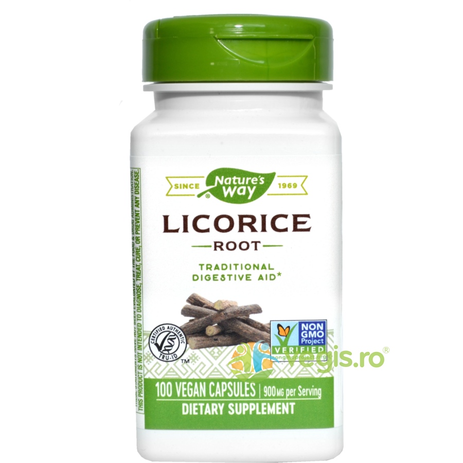 NATURES  WAY Licorice 450mg (Lemn dulce) 100cps