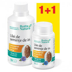 Pachet Ulei Seminte In 1000mg 90cps+ 30cps ROTTA NATURA